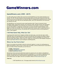 GameWinners.com - Cheats and codes for PC, Xbox 360, PlayStation 3, Wii, DS, PSP, and more...