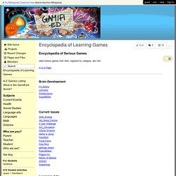 gamifi-ED - Encyclopedia of Learning Games