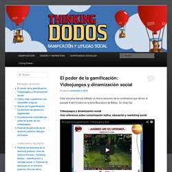 Un blog sobre gamificación y estrategias de contenidos