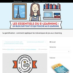 La gamification appliquée au e-learning