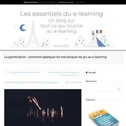 La gamification appliquée au e-learning