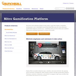 Gamification - Nitro is the Participation Engine - Bunchball
