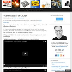 """Gamification"" of Church 