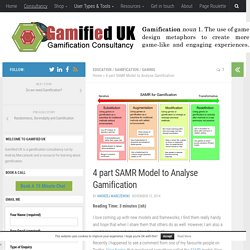 4 part SAMR Model to Analyse Gamification - Gamified UK Gamification Consultancy