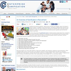 Enterprise Gamification Consultancy - An Overview of Gamification in Recruitment