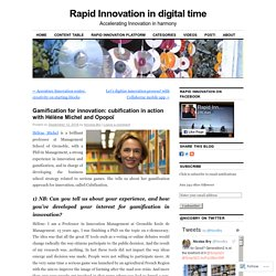 Gamification for innovation: cubification in action with Hélène Michel and Opopoï