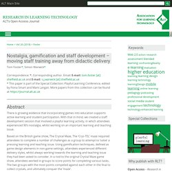 Nostalgia, gamification and staff development – moving staff training away from didactic delivery
