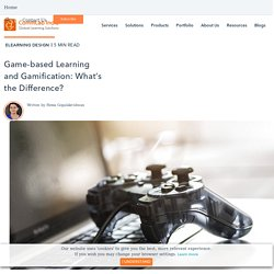 Game-based Learning and Gamification: What's the Difference?