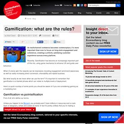 Gamification: what are the rules?