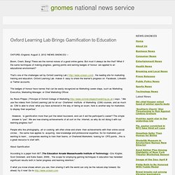 Oxford Learning Lab Brings Gamification to Education