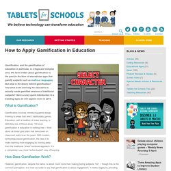 How to Apply Gamification in Education