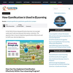 How Gamification is Used in ELearning
