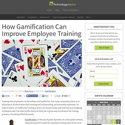 How Gamification Can Improve Employee Training