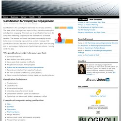 » Gamification for Employee Engagement Eva Rykr