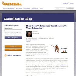 Nine Steps To Introduce Gamification To Your Enterprise