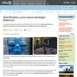 Gamification: ¿una nueva estrategia didáctica?