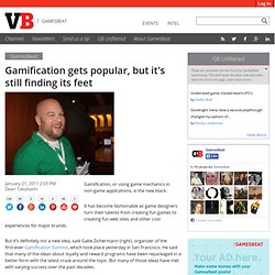 Gamification gets popular, but it's still finding its feet
