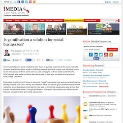 Is gamification a solution for social businesses?