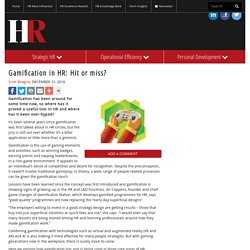 Gamification in HR: Hit or miss?