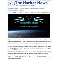 Hacker's Dome - Gamification the Information Security - Hacker News