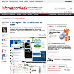 7 Examples: Put Gamification To Work - The BrainYard