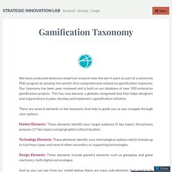 Gamification Taxonomy – Strategic Innovation Lab