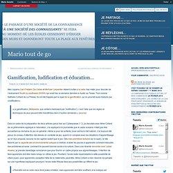 Gamification, ludification et éducation...