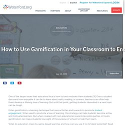 How to Use Gamification in Your Classroom to Encourage Intrinsic Motivation