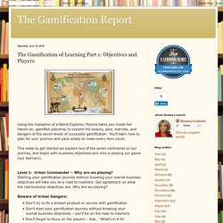 The Gamification of Learning Part 1: Objectives and Players