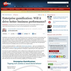 Enterprise gamification: Will it drive better business performance? | ZDNet