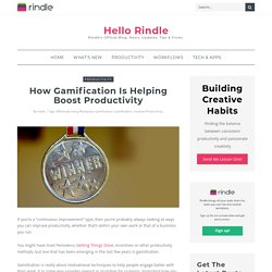 How Gamification is Helping Boost Productivity