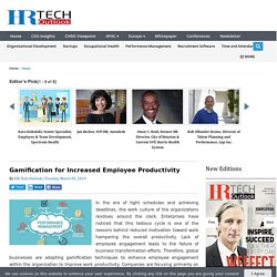 Gamification for Increased Employee Productivity