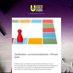 Gamification – 20 recomendaciones – Primera parte