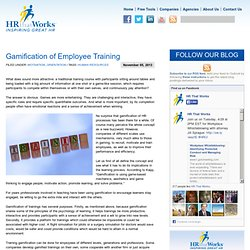 Gamification of Employee Training « Human Resources Blog Human Resources Blog