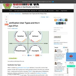 Gamification User Types and the 4 Keys 2 Fun - Gamified UK Blog