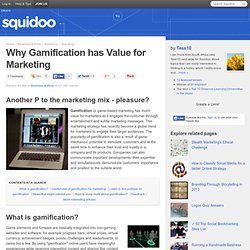 Why Gamification has Value for Marketing