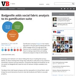Badgeville adds social fabric analysis to its gamification suite