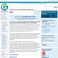 Gamification Wiki