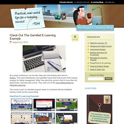 Check Out This Gamified E-Learning Example