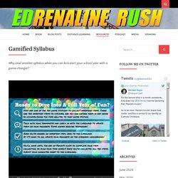 Gamified Syllabus – EDrenaline Rush