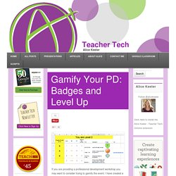 Gamify Your PD: Badges and Level Up