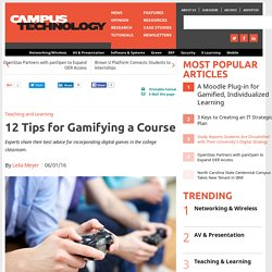 12 Tips for Gamifying a Course