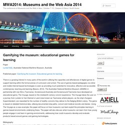 Gamifying the museum: educational games for learning