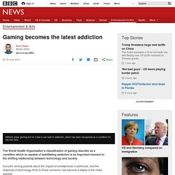 Gaming becomes the latest addiction