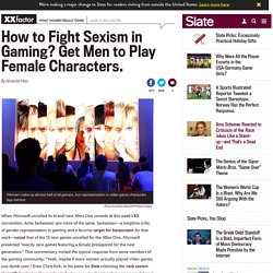 Women in gaming: Women make up half of all gamers, but video game characters lag behind.