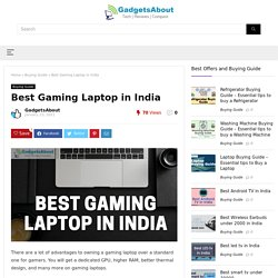 Best Gaming Laptop in India - February 2021