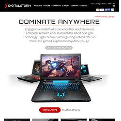 Digital Storm Gaming Laptops
