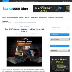 Top 5 HP Gaming Laptops to Play High-End Games
