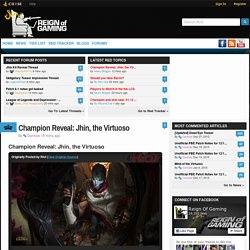 League of Legends news, tier lists, blogs, streams, and more!