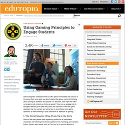 Using Gaming Principles to Engage Students